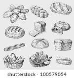 vector bakery seamless | Shutterstock .eps vector #100579054