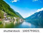 scenic view of famous hallstatt ... | Shutterstock . vector #1005793021