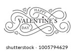 happy valentines day typography ... | Shutterstock .eps vector #1005794629