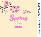 vector watercolor sakura... | Shutterstock .eps vector #1005794974
