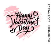 happy valentines day typography ... | Shutterstock .eps vector #1005796825