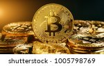 Small photo of Bitcoin Cryptocurrency Digital Bit Coin BTC Currency Technology Business Internet Concept.