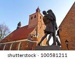 Monument of Polish soldier in Grudziadz - stock photo