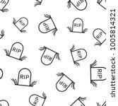 halloween grave seamless... | Shutterstock .eps vector #1005814321