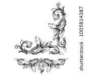 classical baroque vector set of ... | Shutterstock .eps vector #1005814387
