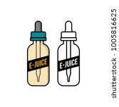 personal vaporizer e cigarette... | Shutterstock .eps vector #1005816625