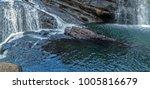 waterfall spring panoramic... | Shutterstock . vector #1005816679