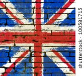 grunged british union jack flag ... | Shutterstock .eps vector #100581715