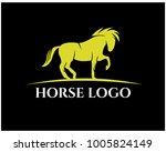 horse logo template vector   Shutterstock .eps vector #1005824149