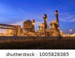 gas turbine electric power... | Shutterstock . vector #1005828385