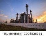 turbine generator in power... | Shutterstock . vector #1005828391