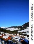 mountain huts in annaberg ... | Shutterstock . vector #1005831019