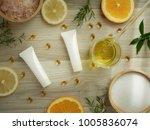 natural cosmetic skincare serum ... | Shutterstock . vector #1005836074
