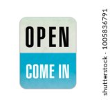 we are open sign | Shutterstock . vector #1005836791