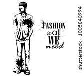 vector man model dressed | Shutterstock .eps vector #1005840994