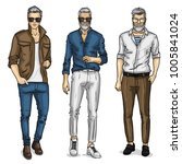 vector young man models | Shutterstock .eps vector #1005841024