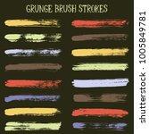 modern watercolor daubs set ... | Shutterstock .eps vector #1005849781
