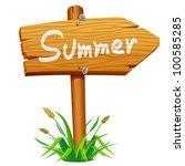 wooden arrow board | Shutterstock .eps vector #100585285