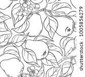 pear seamless pattern   Shutterstock .eps vector #1005856279