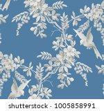 vintage monochrome seamless... | Shutterstock .eps vector #1005858991