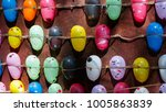 row of colourful balloons...   Shutterstock . vector #1005863839