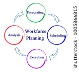 workforce planning process | Shutterstock . vector #1005866815