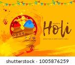 indian festival of happy holi...   Shutterstock .eps vector #1005876259