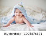 cute little baby boy  relaxing... | Shutterstock . vector #1005876871