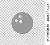 bowling ball vector icon eps 10.... | Shutterstock .eps vector #1005877195