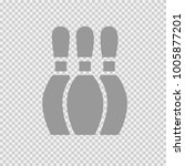 bowling pin vector icon eps 10. ... | Shutterstock .eps vector #1005877201