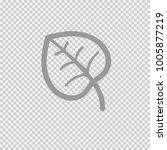 leaf vector icon eps 10. autumn ... | Shutterstock .eps vector #1005877219