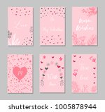 decorative greeting cards for... | Shutterstock .eps vector #1005878944