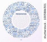 presentation concept in circle... | Shutterstock .eps vector #1005886501