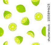 seamless pattern with slices... | Shutterstock .eps vector #1005894625