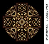isolated celtic cross from... | Shutterstock .eps vector #1005894985