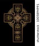 isolated celtic cross from...   Shutterstock .eps vector #1005894991
