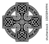 isolated celtic cross from... | Shutterstock .eps vector #1005894994