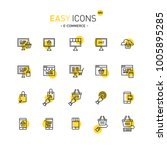 easy icons 40d file formats | Shutterstock .eps vector #1005895285