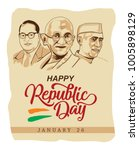 republic day wish old paper | Shutterstock .eps vector #1005898129