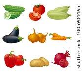 vegetables icon set | Shutterstock . vector #1005904465