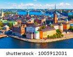 scenic summer aerial panorama... | Shutterstock . vector #1005912031