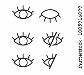visible invisible icon symbol... | Shutterstock .eps vector #1005916099