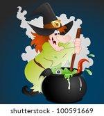 halloween witch vector | Shutterstock .eps vector #100591669
