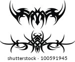 the stylized pattern in the... | Shutterstock .eps vector #100591945