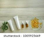 natural cosmetic skincare serum ...   Shutterstock . vector #1005925669