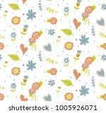 seamless pattern with cartoon...   Shutterstock .eps vector #1005926071