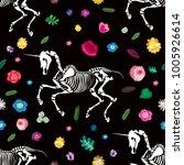 seamless pattern. skeleton of a ... | Shutterstock .eps vector #1005926614