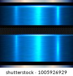 metal background  blue polished ... | Shutterstock .eps vector #1005926929
