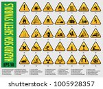 set of sign  hazard safety... | Shutterstock .eps vector #1005928357