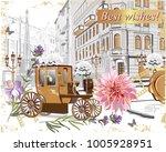 series of vintage backgrounds... | Shutterstock .eps vector #1005928951